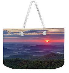 Sunrise Over The Blue Ridge Weekender Tote Bag