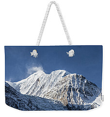 Sunrise Over The Gangapurna Peak At 7545m In The Himalayas In Ne Weekender Tote Bag