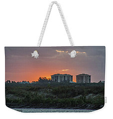 Sunrise Over The Intracoastal Weekender Tote Bag by Nance Larson