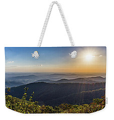 Sunrise Over The Misty Mountains Weekender Tote Bag