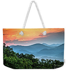 Weekender Tote Bag featuring the photograph Sunrise Over The Smoky's by Douglas Stucky