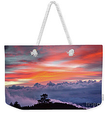 Weekender Tote Bag featuring the photograph Sunrise Over The Smoky's II by Douglas Stucky