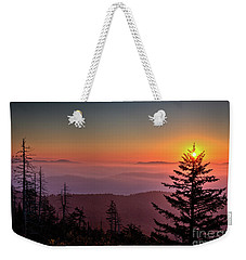 Weekender Tote Bag featuring the photograph Sunrise Over The Smoky's IIi by Douglas Stucky