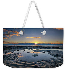 Weekender Tote Bag featuring the photograph Sunrise Over Wells Beach by Rick Berk
