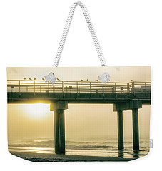 Weekender Tote Bag featuring the photograph Sunrise Pier In Alabama  by John McGraw