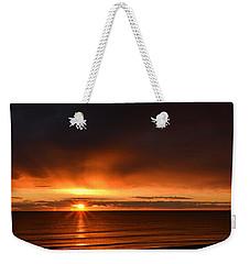 Sunrise Rays Weekender Tote Bag