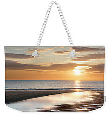 Sunrise Reflections At Aberdeen Beach Weekender Tote Bag