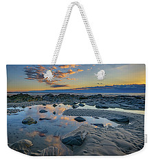 Weekender Tote Bag featuring the photograph Sunrise Reflections On Wells Beach by Rick Berk