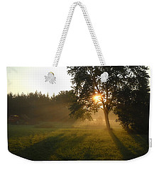 Sunrise Shadows Through Fog Weekender Tote Bag by Kent Lorentzen