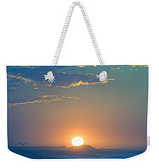 Weekender Tote Bag featuring the photograph Sunrise Sky by  Newwwman