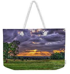 Sunrise Stairways To Heaven Farmland Art Weekender Tote Bag by Reid Callaway