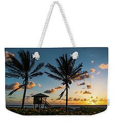Sunrise Sunburst Palms Delray Beach Florida Weekender Tote Bag