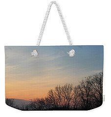 Weekender Tote Bag featuring the photograph Fall Sunset by Melinda Blackman