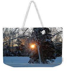 Sunrise Through Branches Weekender Tote Bag by Kent Lorentzen