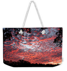 Sunrise Through The Trees Weekender Tote Bag