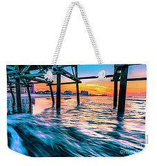 Sunrise Under Cherry Grove Pier Weekender Tote Bag