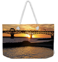 Sunrise Under Coleman Bridge Weekender Tote Bag