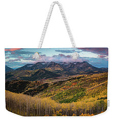 Sunrise View Of Mount Timpanogos Weekender Tote Bag