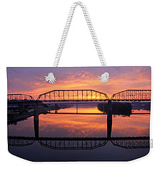Sunrise Walnut Street Bridge 2 Weekender Tote Bag