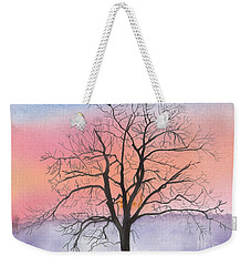 Sunrise Walnut Tree 2 Watercolor Painting Weekender Tote Bag