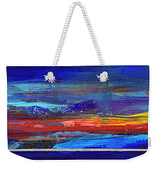 Weekender Tote Bag featuring the painting Sunrise Panorama by Walter Fahmy