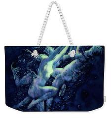 Weekender Tote Bag featuring the digital art Sunrise Water Nymphs by Pennie McCracken