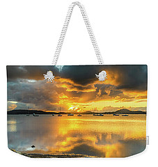 Sunrise Waterscape With Reflections Weekender Tote Bag