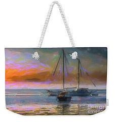 Sunrise With Boats Weekender Tote Bag