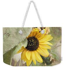 Last Sunflower Weekender Tote Bag by Cindy Garber Iverson