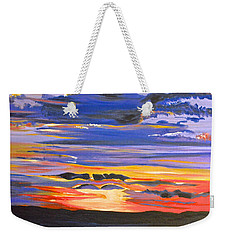 Sunset #5 Weekender Tote Bag by Donna Blossom