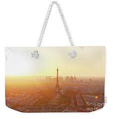 Sunset Above Paris Weekender Tote Bag