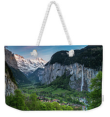 Sunset Above The Lauterbrunnen Valley Weekender Tote Bag