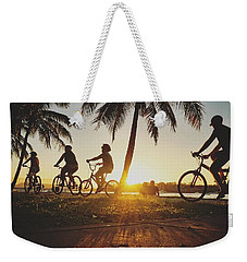 Weekender Tote Bag featuring the photograph Sunset Adventures Along The River At Noosaville by Keiran Lusk
