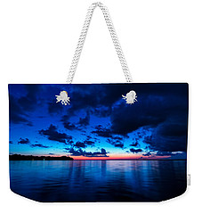 Weekender Tote Bag featuring the photograph Sunset After Glow by Christopher Holmes