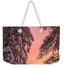 Sunset After Snow Weekender Tote Bag