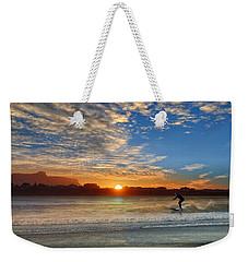 Sunset And A Surfer At Bundoran Weekender Tote Bag