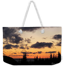 Weekender Tote Bag featuring the photograph Sunset And Dark Clouds by Barbara Griffin