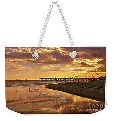 Sunset And Gulls Weekender Tote Bag