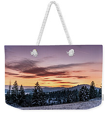 Sunset And Mountains Weekender Tote Bag
