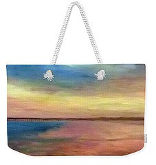 Sunset And Pier Weekender Tote Bag