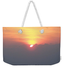 Weekender Tote Bag featuring the photograph Sunset And The Storm by Sandi OReilly