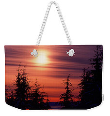 Sunset And Trees Two  Weekender Tote Bag by Lyle Crump