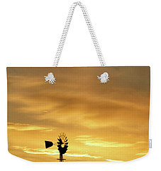 Sunset And Windmill 12 Weekender Tote Bag by Rob Graham