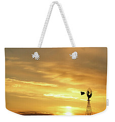 Sunset And Windmill 13 Weekender Tote Bag by Rob Graham