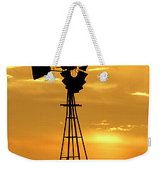 Sunset And Windmill 15 Weekender Tote Bag by Rob Graham