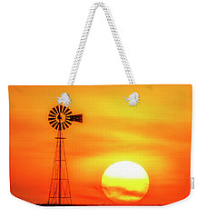Sunset And Windmill 16 Weekender Tote Bag