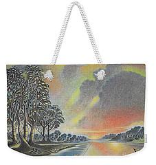 Sunset Angler Weekender Tote Bag