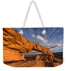 Weekender Tote Bag featuring the photograph Sunset Arch by Dustin LeFevre