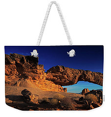 Weekender Tote Bag featuring the photograph Sunset Arch Pano by Edgars Erglis