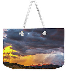 Sunset At Arapahoe Basin And Keystone Weekender Tote Bag